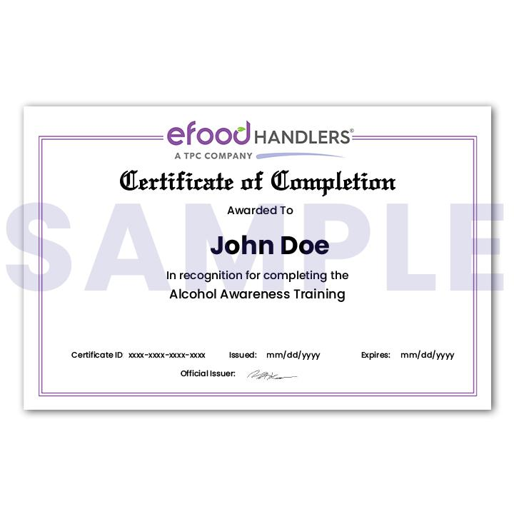 Mailed Certificate of Completion